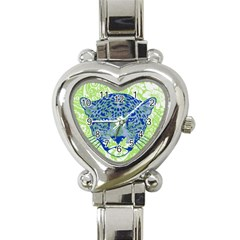 Cheetah Alarm Heart Italian Charm Watch  by Contest1738807
