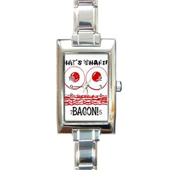 Whats Shakin Bacon? Rectangular Italian Charm Watch