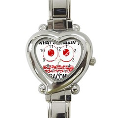 Whats Shakin Bacon? Heart Italian Charm Watch  by Contest1804625