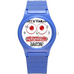 Whats Shakin Bacon? Plastic Sport Watch (small)