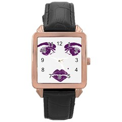 Beauty Time Rose Gold Leather Watch  by Contest1704350