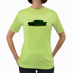 Smokin  Tank Womens  T Shirt (green)