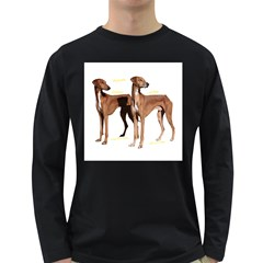 Fahim Et Goumsao Decoupe   Vide Black Mens' Long Sleeve T Shirt (dark Colored)