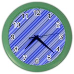 Lines Wall Clock (Color) Front