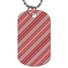 Lines Dog Tag (two Sided)  by Siebenhuehner