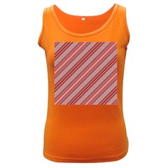 Lines Womens  Tank Top (dark Colored)