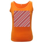 Lines Womens  Tank Top (Dark Colored) Front