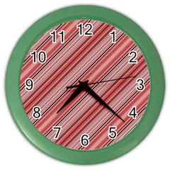 Lines Wall Clock (color) by Siebenhuehner