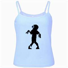 Zombie Boogie Baby Blue Spaghetti Tank by willagher