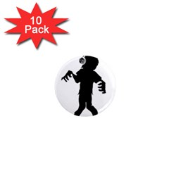 Zombie Boogie 1  Mini Button Magnet (10 Pack)
