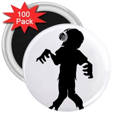 Zombie Boogie 3  Button Magnet (100 Pack) by willagher