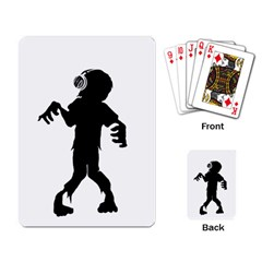 Zombie Boogie Playing Cards Single Design by willagher