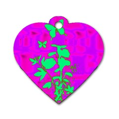 Butterfly Dog Tag Heart (one Sided)  by uniquedesignsbycassie