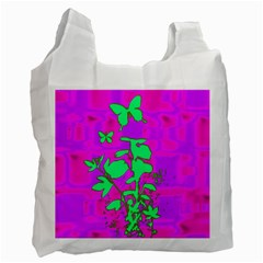 Butterfly Recycle Bag (one Side) by uniquedesignsbycassie