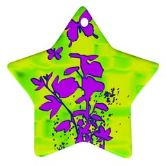 Butterfly Green Star Ornament (two Sides)