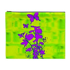 Butterfly Green Cosmetic Bag (xl) by uniquedesignsbycassie