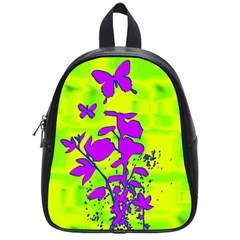 Butterfly Green School Bag (small) by uniquedesignsbycassie
