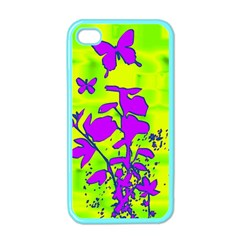 Butterfly Green Apple Iphone 4 Case (color) by uniquedesignsbycassie