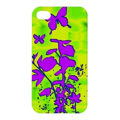 Butterfly Green Apple Iphone 4/4s Premium Hardshell Case by uniquedesignsbycassie