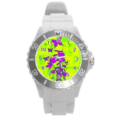 Butterfly Green Plastic Sport Watch (large) by uniquedesignsbycassie
