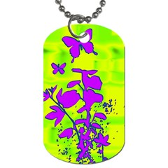 Butterfly Green Dog Tag (two Sided)  by uniquedesignsbycassie