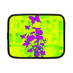 Butterfly Green Netbook Sleeve (small) by uniquedesignsbycassie