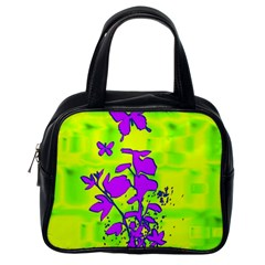 Butterfly Green Classic Handbag (one Side) by uniquedesignsbycassie