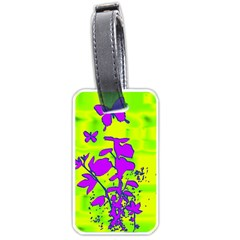 Butterfly Green Luggage Tag (one Side) by uniquedesignsbycassie