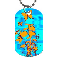 Butterfly Blue Dog Tag (two Sided)  by uniquedesignsbycassie