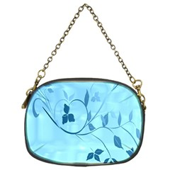 Floral Blue Chain Purse (two Sided)