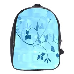 Floral Blue School Bag (large)