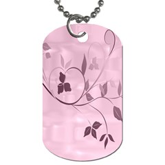 Floral Purple Dog Tag (two Sided)  by uniquedesignsbycassie