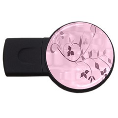 Floral Purple 2gb Usb Flash Drive (round)