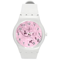 Floral Purple Plastic Sport Watch (medium)