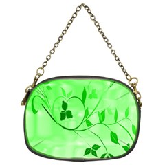 Floral Green Chain Purse (two Sided)  by uniquedesignsbycassie