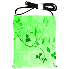 Floral Green Shoulder Sling Bag by uniquedesignsbycassie