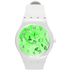 Floral Green Plastic Sport Watch (medium) by uniquedesignsbycassie