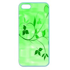 Floral Green Apple Seamless Iphone 5 Case (color) by uniquedesignsbycassie