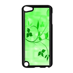 Floral Green Apple Ipod Touch 5 Case (black)