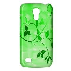 Floral Green Samsung Galaxy S4 Mini (gt I9190) Hardshell Case  by uniquedesignsbycassie
