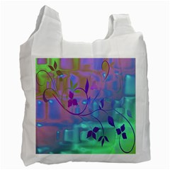 Floral Multicolor Recycle Bag (two Sides) by uniquedesignsbycassie
