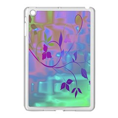 Floral Multicolor Apple Ipad Mini Case (white) by uniquedesignsbycassie