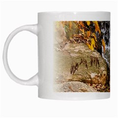 Waterfall White Coffee Mug by uniquedesignsbycassie