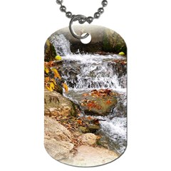 Waterfall Dog Tag (two Sided)  by uniquedesignsbycassie