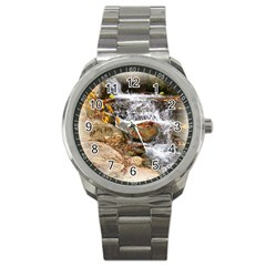 Waterfall Sport Metal Watch by uniquedesignsbycassie