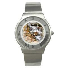 Waterfall Stainless Steel Watch (slim) by uniquedesignsbycassie