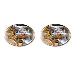 Waterfall Cufflinks (oval) by uniquedesignsbycassie