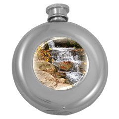 Waterfall Hip Flask (round) by uniquedesignsbycassie