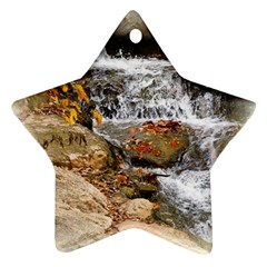 Waterfall Star Ornament (two Sides) by uniquedesignsbycassie