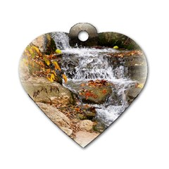Waterfall Dog Tag Heart (one Sided)  by uniquedesignsbycassie